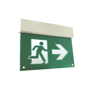 Self-Powered Edge Lit LED Running Man Exit Sign