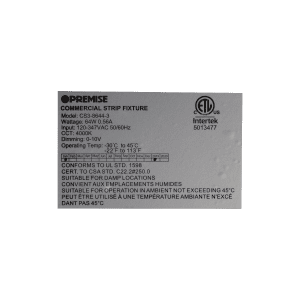 CS3-8644-3 Label